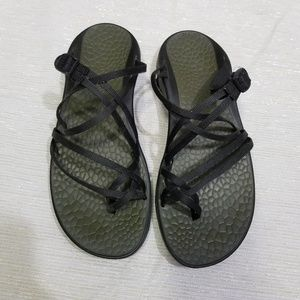 Chaco Zong Z Black Adjustable Double Strap SZ 10